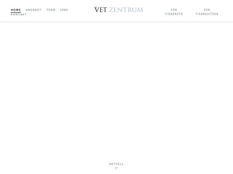 Screenshot von www.vetzentrum.ch